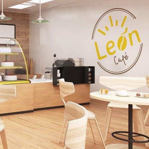 Logotipo León Café