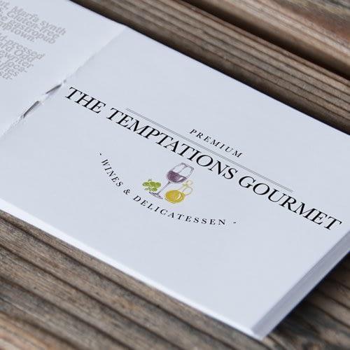 Logotipo Temptations Gourmet