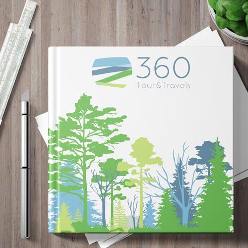 Diseño de Logotipo para empresa 360 Tours & Travels