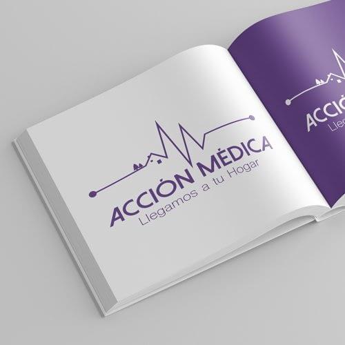 Diseño de logotipo para empresa Acción Médica