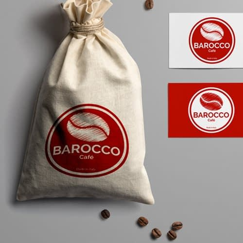 Diseño de logotipo para empresa Café Barocco