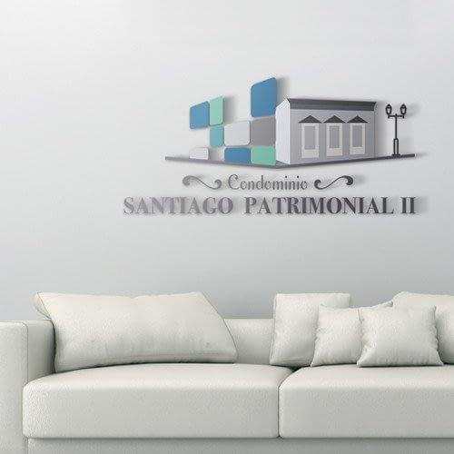 Diseño de logotipo para empresa Condominio Santiago Patrimonial