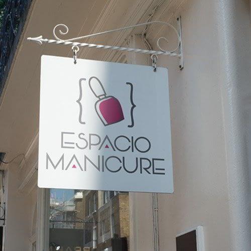 Diseño de logotipo para empresa Espacio Manicure
