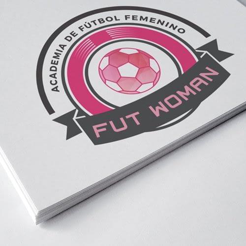 Diseño de logotipo para empresa Fut Woman