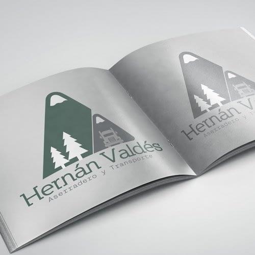 Diseño de logotipo para empresa Hernán Valdes