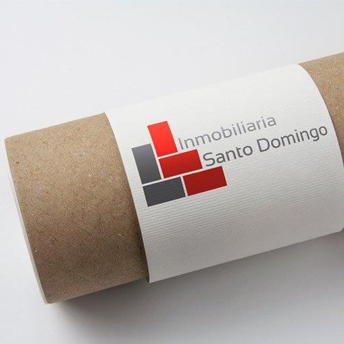 Diseño de logotipo para empresa Inmobiliaria Santo Domingo