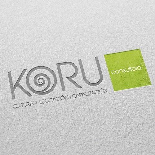 Diseño de logotipo para empresa Koru Consultora