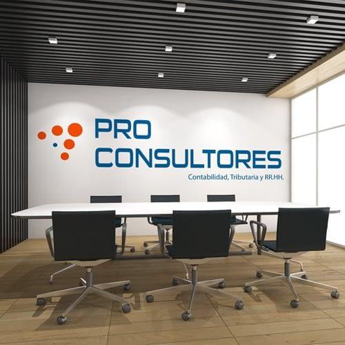 Diseño de logotipo para empresa Pro Consultores