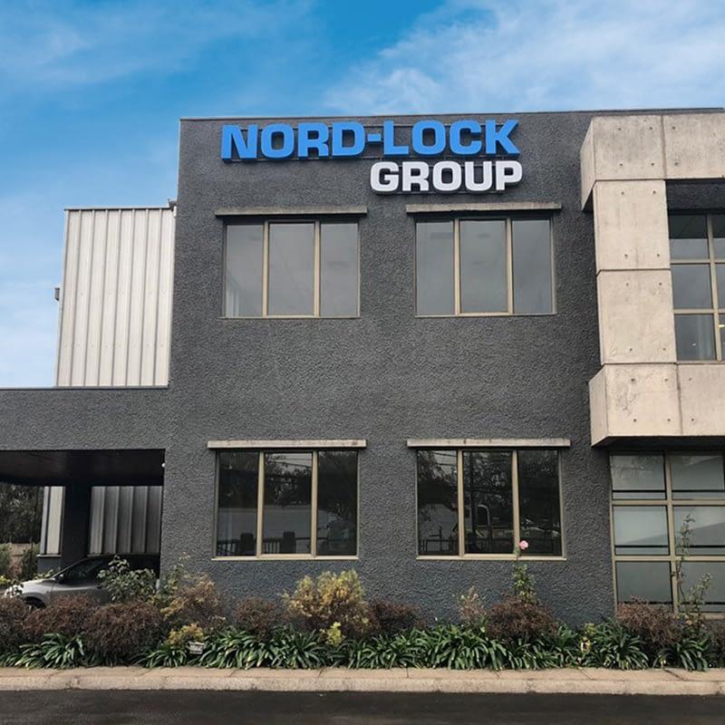 Logotipo volumetrico metal para Nord-Lock
