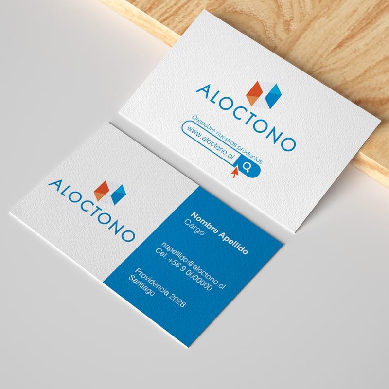 Diseño de logotipo para empresa Aloctono
