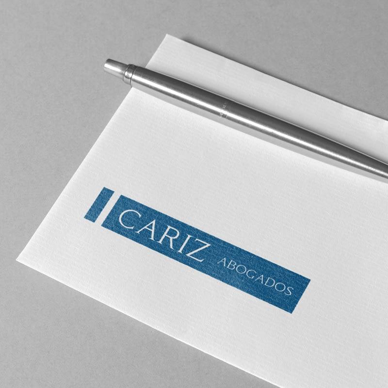 Diseño de logotipo para empresa Cariz Abogados
